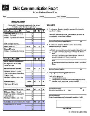 texas immunization record card forms and templates fillable