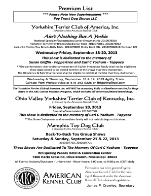 yorkshire terrier club of america