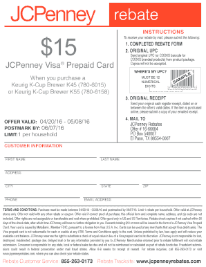 Fillable Online To print keurig $15 rebate (pdf) - JCPenney Fax ...