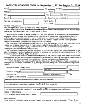 PARENTAL CONSENT FORM - bBRPCb - brpc