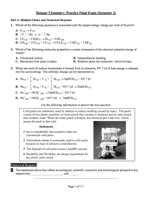 Printable how to study for a chemistry lab exam - Fill Out