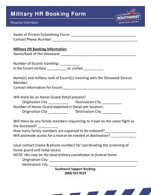 military hr booking form swacargocom
