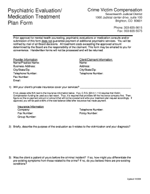 19 Printable Counseling Treatment Plan Template Forms