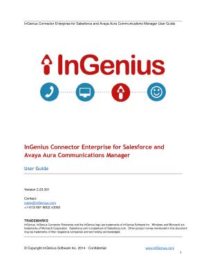 InGenius Connector Enterprise for Salesforce and Avaya Aura