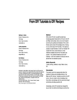 descriptive recipe format example