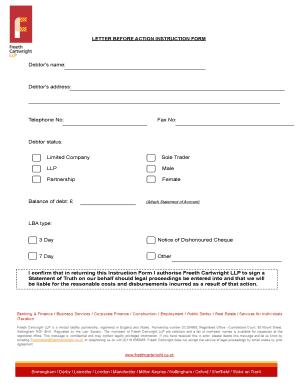 Letter Before Action >> Editable Sample Debt Collection Letter Before Action Fill