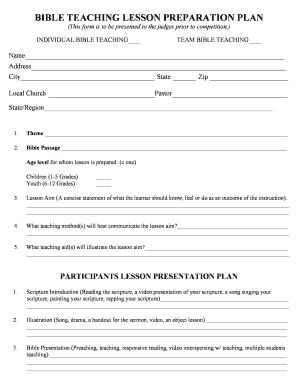 Printable free lesson plan template word fill out download top bible teaching lesson preparation plan saigontimesfo