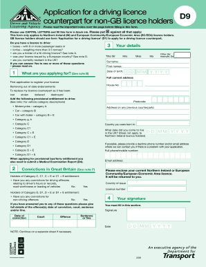 Fillable Online londynek Application for a driving licence D9 ... on social security application, driving license, cash application, bank account application, green card application,