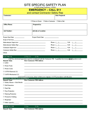 fillable online safety plan template free download ebook and pdf