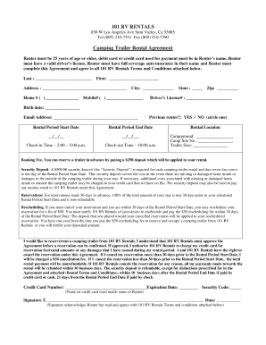 30 Printable Trailer Rental Agreement Forms And Templates