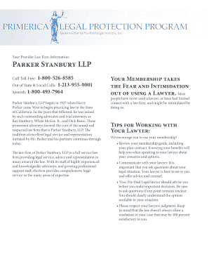 primerica legal protection program Fillable Online kandynasty Primerica LegaL Protection Program ...