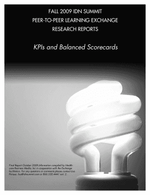 KPIs and Balanced Scorecards - IDN Summit and Expo