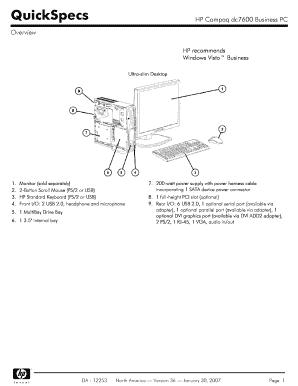 Hewlett packard hp Compaq dc7600 Convertible Minitower manual