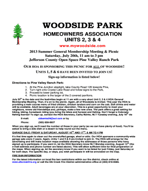 Fillable Online WOODSIDE PARK HOMEOWNERS