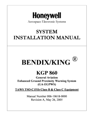 Fillable Online KGP 860 Installation manual - Honeywell Fax Email