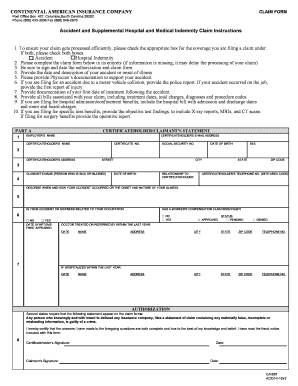 Fillable How To Fill Out A Car Insurance Claim Form Download