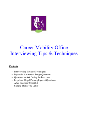 Career Mobility Office Interviewing Tips &amp