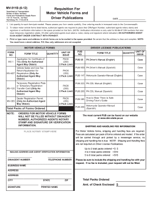2012 Form PA MV-511B Fill Online, Printable, Fillable, Blank ...