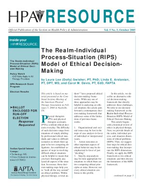 examples of ethical issues in physical therapy - Edit, Fill, Print