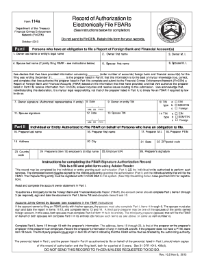 blank form 114 2013 Form FinCen Form 114a Fill Online, Printable, Fillable, Blank ...