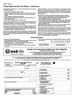 How To Fill The Form Texas Sales And Use Tax Return Form 01 ...