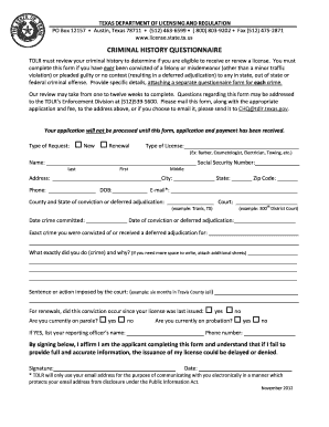 2012 Form TX TDLR LIC002 Fill Online, Printable, Fillable, Blank ...