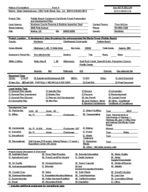 Fillable Online co monterey ca Notice of Completion Form A See ...