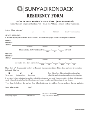 Fillable Online sunyacc ACC Residency Form.qxd - SUNY Adirondack ...