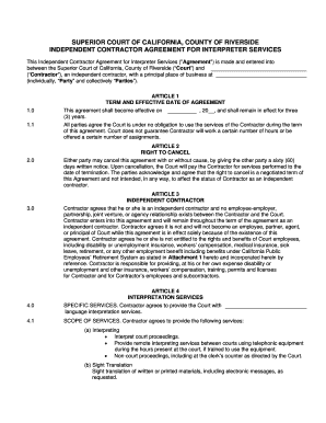 Editable Independent Contractor Agreement California Fill