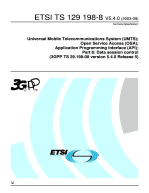 Fillable Online etsi TS 129 198-8 - V5 4 0 - Universal