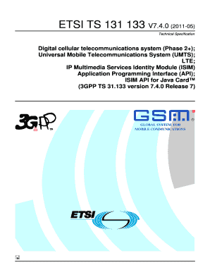 Fillable Online etsi TS 131 133 - V7 4 0 - Digital cellular