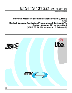 Fillable Online etsi TS 131 221 - V9 1 0 - Universal Mobile
