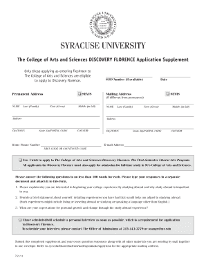 syracuse university application form