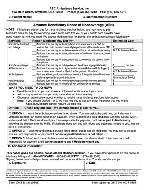 Cmsr 131 Advance Abn - Fill Online, Printable, Fillable, Blank ...