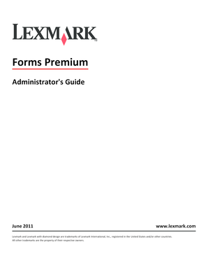 Administrator's Guide. Forms Premium
