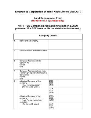 Fillable Online Land Requirement Form Fax Email Print - PDFfiller