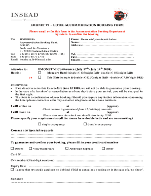 Booking form template excel fillable printable samples for pdf emonet vi hotel accommodation booking form please email or fax this form to the accommodation pronofoot35fo Choice Image