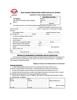 Be Rgpv Degree Pic - Fill Online, Printable, Fillable, Blank