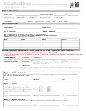 SET2 Paediatric Surgery Trainee Evaluation Form - Royal ...