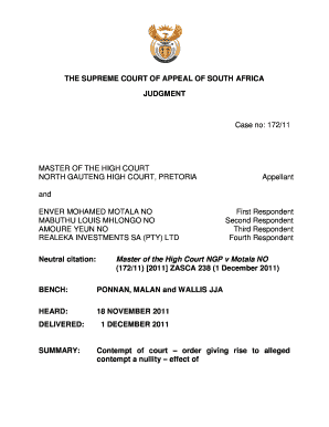 29579438 Telefax Application Form High Court Gauteng on