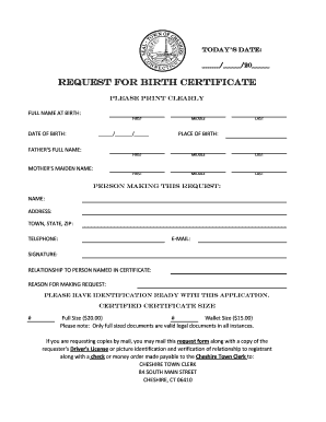 How To Request A Birth Certificate - Fill Online, Printable
