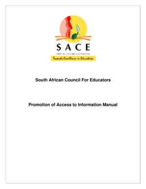 Promotion of Access to Information Manual - SACE