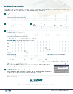 Fillable Online cgfns Credit Card Payment Form - CGFNS ...