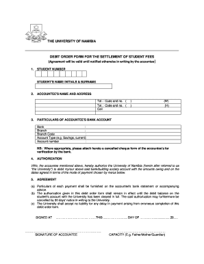 How Does The Debit Order Form For The Settlement Of Students Fees Work At  University Of