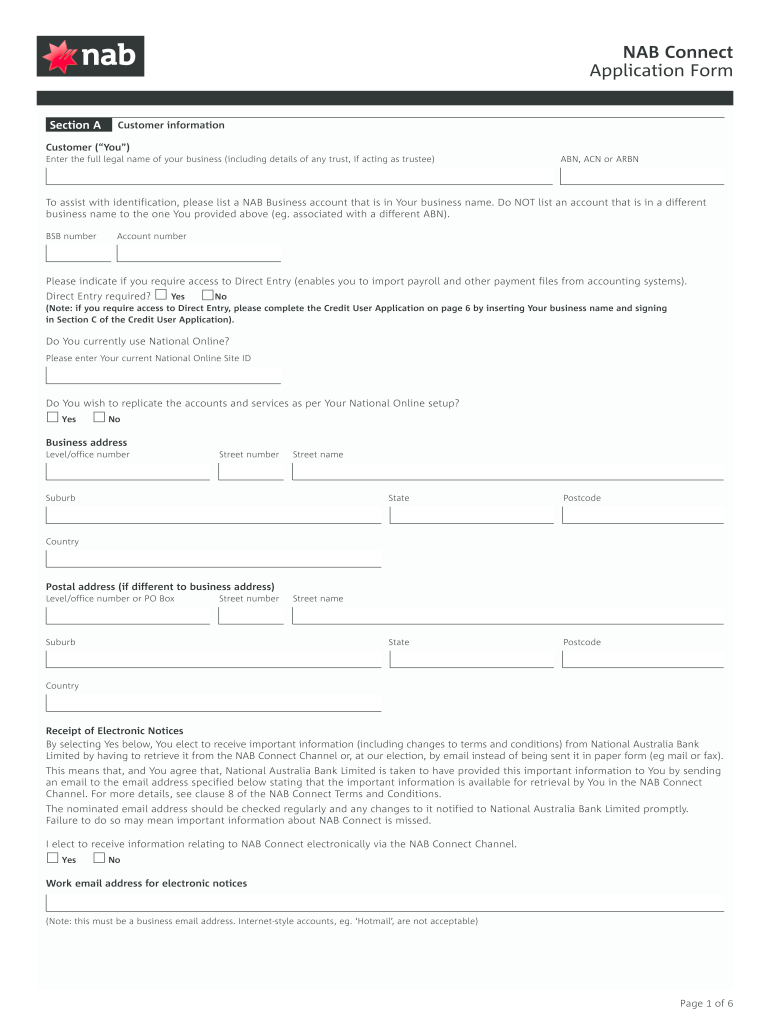 Nab Application Form - Fill Online, Printable, Fillable, Blank