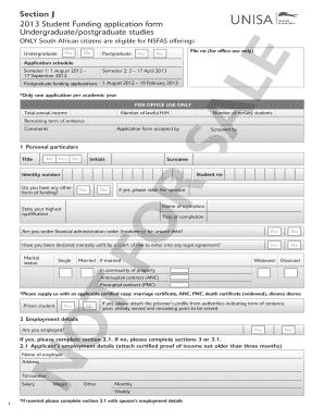 Example Of An Application Forms For Nsfas - Fill Online ...