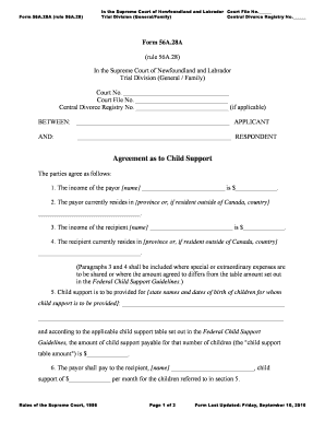 child support template