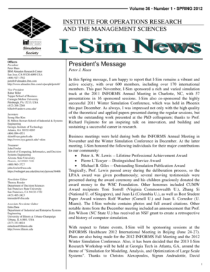 Simulation Newsletter Template - Informs - informs