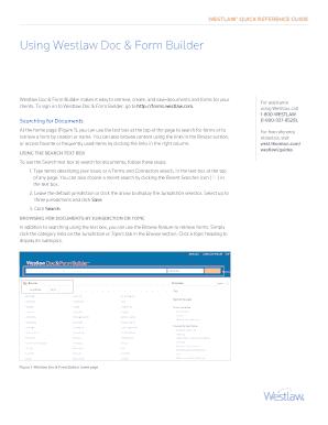 Fillable Online Using Westlaw Doc & Form Builder - Thomson Reuters ...