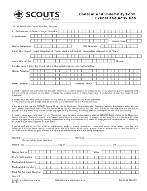 Rate This Form  Indemnity Form Template